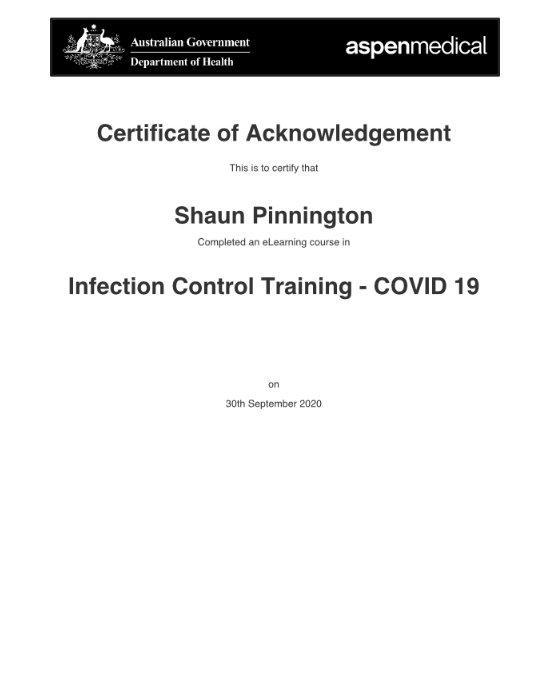SP CovidCertificate