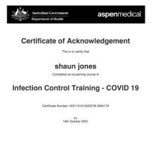 ShaunJones Covid certificate